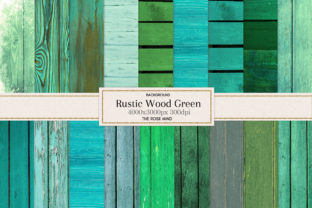 Print on Demand: Rustic Green Wood Background Graphic Backgrounds By The Rose Mind