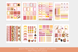 Print on Demand: Thanksgiving Functional Stickers Set Graphic Print Templates By TheGGShop