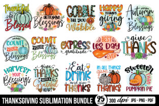 Thanksgiving Sublimation Bundle Graphic Crafts By CraftlabSVG