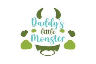 Daddy's Little Monster Halloween Craft Cut File By Creative Fabrica Crafts