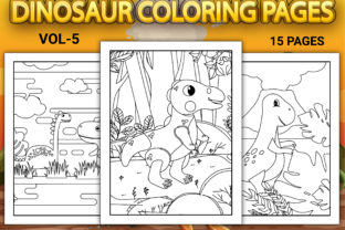 Print on Demand: Dinosaur Coloring Pages Vol-5 Graphic Coloring Pages & Books Kids By Simran Store