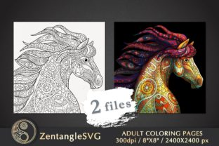 Horse Coloring Page for Adults - 2