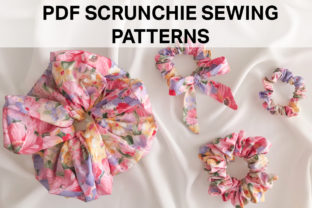 Beautiful Scrunchie Sewing Patterns Graphic Sewing Patterns By Hey Vivi Designs