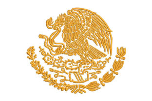 Coat of Arms of Mexico Mexico Embroidery Design By Embroiderypacks