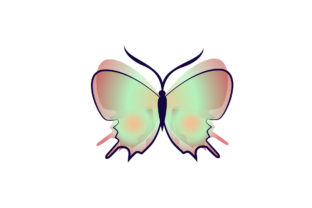 Cute Butterfly Icons Vector Graphic Icons By Graphic Idea