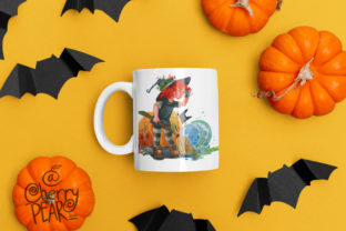 Print on Demand: Cute Witch with Broom Sublimation Clipat Graphic Illustrations By CherrypearStudio 5