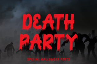 Print on Demand: Death Party Display Font By yogaletter6