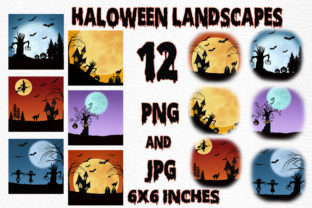 Print on Demand: Halloween Background,Spooky Scary Art Graphic Illustrations By LeCoqDesign