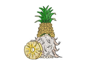 Pineapple Gnome Fairy Tales Embroidery Design By Canada Crafts Studio