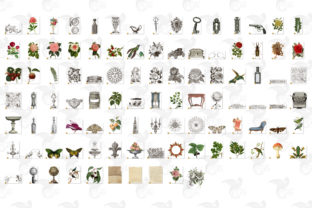 Print on Demand: 100 Old Things Graphic Illustrations By Digital Curio 3