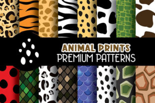 Print on Demand: Animal Prints Digital Papers Patterns Graphic Patterns By Grafixeo