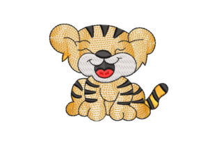 Baby Tiger Baby Animals Embroidery Design By Embroiderypacks