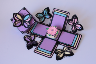 Butterfly Exploding Box 3D 3D SVG Craft Cut File By Creative Fabrica Crafts