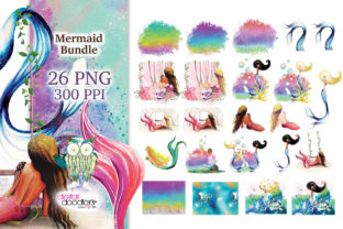 Print on Demand: Enchanted Mermaids Graphic Illustrations By Digital Doodlers