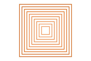 Multiple Orange Squares Graphic Patterns By Picto Graphy