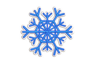 Snowflake Winter Embroidery Design By Embroiderypacks