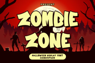 Print on Demand: Zombie Zone Display Font By Arendxstudio