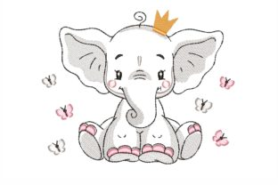 Baby Elephant Baby Animals Embroidery Design By NinoEmbroidery