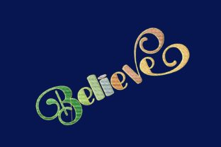 Print on Demand: Believe House & Home Quotes Embroidery Design By setiyadissi