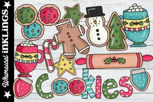 Christmas Cookies Graphic Illustrations By Whimsical Inklings