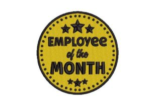 Employee of the Month Badge Work & Occupation Embroidery Design By Embroidery Designs