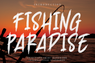 Print on Demand: Fishing Paradise Display Font By Creativewhitee
