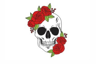 Floral Skull Halloween Embroidery Design By NinoEmbroidery