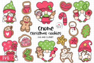 Print on Demand: Gnome Christmas Cookies SVG, Christmas Graphic Crafts By Chonnieartwork