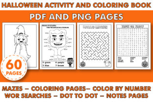 Print on Demand: HALLOWEEN COLORING and ACTIVITY BOOK Graphic Coloring Pages & Books Kids By KDP INTERIOR DESIGN