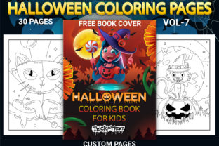 Print on Demand: Halloween Coloring Pages Vol-7 Graphic Coloring Pages & Books Kids By Simran Store