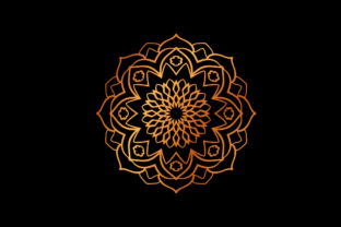 Mandala Henna Gold Vectors Graphic Icons By Graphic Idea