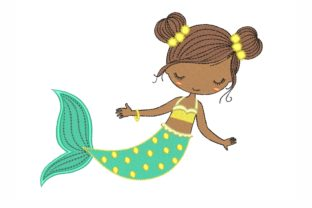 Mermaid Fairy Tales Embroidery Design By NinoEmbroidery