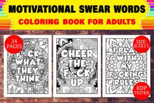 Print on Demand: Motivational Swear Words for Adults KDP Graphic Coloring Pages & Books Adults By Design Empire
