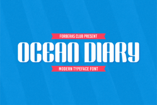 Print on Demand: Ocean Diary Display Font By Forberas Club