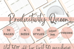 Print on Demand: Productivity Planner Template Pages Graphic Print Templates By PoshPrintsByBee