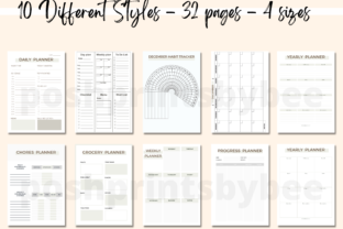 Productivity Planner Template Pages - 3
