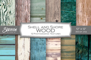 Shell and Shore Pastel Wood Textures Graphic Backgrounds By skritchstudio