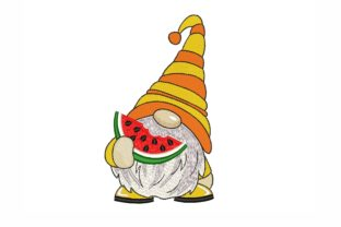 Summer Gnome Summer Embroidery Design By NinoEmbroidery