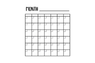 Monthly Calendar Template Planner Craft Cut File By Creative Fabrica Crafts