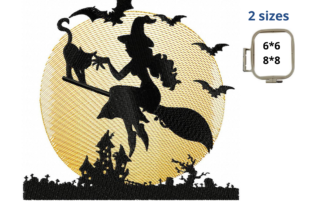 Halloween Witch Halloween Embroidery Design By LaceArtDesigns