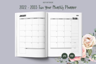 Print on Demand: KDP Two Year Monthly Planner 2022 - 2023 Graphic KDP Interiors By The Low Content Bookshelf