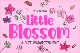 Print on Demand: Little Blossom Display Font By GoodMoodType