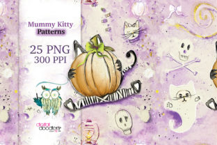 Print on Demand: Mummy Kitty Stationery Graphic Patterns By Digital Doodlers 1