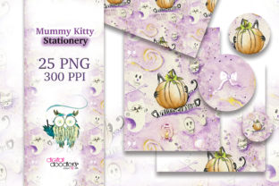 Print on Demand: Mummy Kitty Stationery Graphic Patterns By Digital Doodlers 2