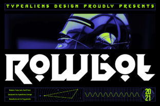 Print on Demand: Rowbot Display Font By typealiens