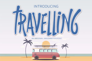 Print on Demand: Travelling Script & Handwritten Font By Nobu Collections