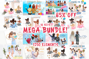 Best Friends MEGA BUNDLE Mother and Baby Graphic Illustrations By CosyArtStore by RivusDea