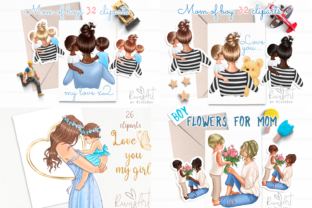 Best Friends MEGA BUNDLE Mother and Baby Graphic Illustrations By CosyArtStore by RivusDea 4