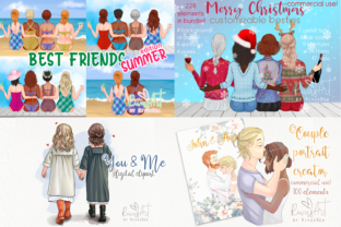 Best Friends MEGA BUNDLE Mother and Baby Graphic Illustrations By CosyArtStore by RivusDea 5