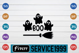 Print on Demand: Boo Graphic Print Templates By fiverrservice1999